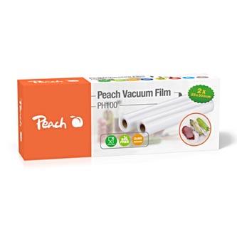 Vakuovací folie PH100, čirá, 2 role, 2 x 90 mikronů, 2x 3m, Peach