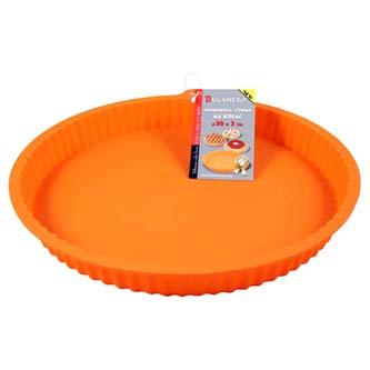 Forma silikonová, 30 x 30 x 3cm, oranžová, na koláč