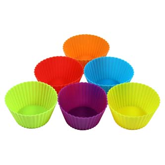 Forma silikonová, 7.5 x 3.5cm, color, 6ks, na muffiny