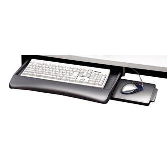 Držák klávesnice a myši pod stůl, šedý, plast, Fellowes