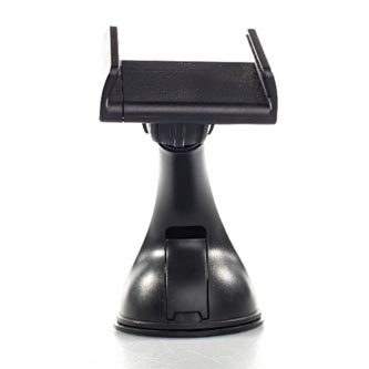 Držák mobilu(GPS) do auta, nastavitelná šířka, černý, plast, Swissten, přísavka na sklo, kloubový, černá, mobil