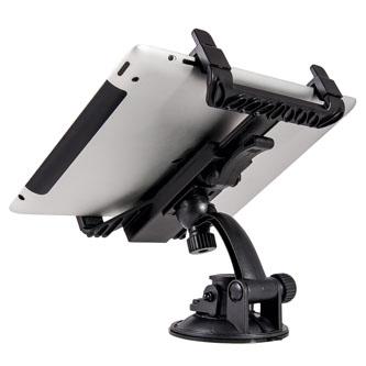 """Držák tabletu 8""""-15"""", na sklo, do auta, Car holder 202, černý, plast, 1kg, Defender, měkké boční úchyty, vakuová přísavka, 360°, č"""