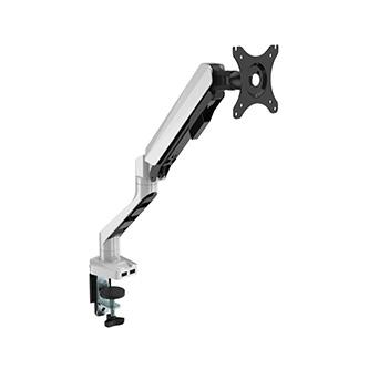 """Polohovatelný držák pro monitor, 2-9KG, svorka a průchodka stolu, 17""""-30"""", USB HUB, 75x75/100x100, šedý"""