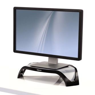 Podstavec Smart Suites pod monitor, nastavitelná výška, černo-stříbrný, plast, 10 kg nosnost, Fellowes, ergo