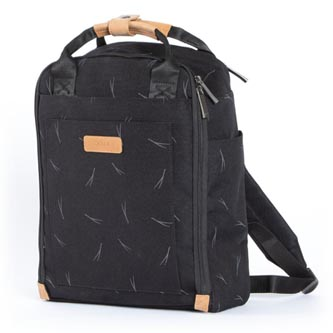 "Batoh na notebook 13"", Orion Black Printed, černý z polyesteru, Golla"