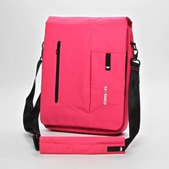 """Messenger na notebook 15,6"""", růžový z bavlny, NT005, Crown"""
