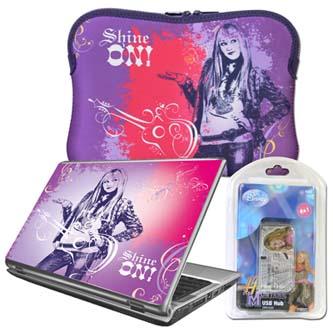 """Obal na netbook 10"""", Hannah Montana, růžovo-fialový z neoprénu"""
