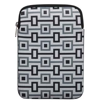 """Obal na tablet 10.1"""", Geometric, bílý z neoprénu"""
