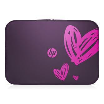 """Obal na notebook 15,6"""", Spectrum Hearts, fialový z polyuretanu, HP"""