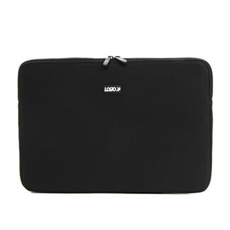 "Obal na notebook 15.6"", Madrid, černý z neoprénu, Logo"