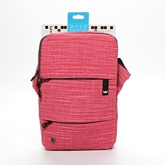 """Taška na tablet 11"""", NT011, růžová z nylonu, s podstavcem na tablet typ Crown"""