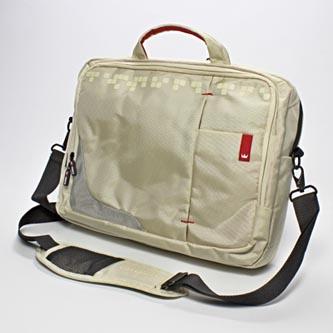 "Taška na notebook 15,6"", béžová s červenými prvky z nylonu, NT007, Crown"