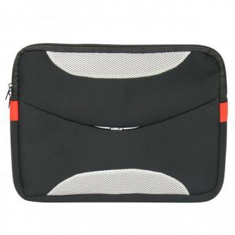 """Obal na notebook 16"""", Delux, černo-šedý z neoprénu, Logo"""