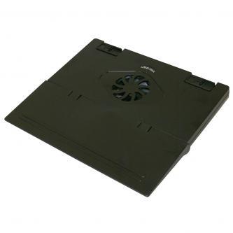 Stojan pod notebook, skládací, s větrákem, černý