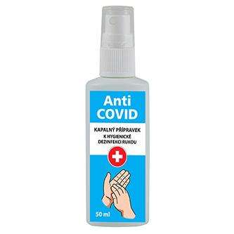 Dezinfekční roztok, na ruce, rozprašovač, Anti-COVID, 50 ml