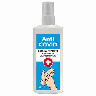 Dezinfekční roztok, na ruce, rozprašovač, Anti-COVID, 125 ml