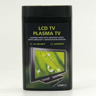 Čisticí trhací ubrousky, na LCD TV, plasma TV, domácí kino, dóza, 50ks, BLACK EDITION, LOGO