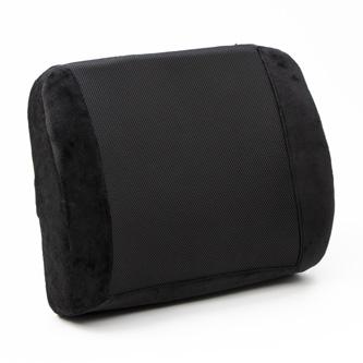 Bederní opěrka, univerzální, ergonomická, černá, paměťová pěna