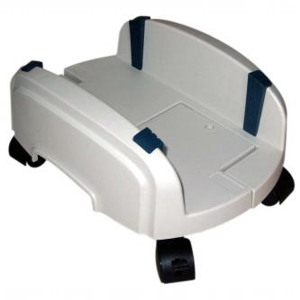 Držák PC na zem, nastavitelná šířka, šedý, plast, šířka 15,5 - 25,5 cm, šedá, PC
