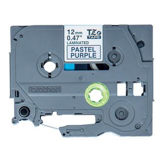 Brother originální páska do tiskárny štítků, Brother, TZE-MQF31, černý tisk/fialový podklad, 4m, 12mm, pastelový podklad