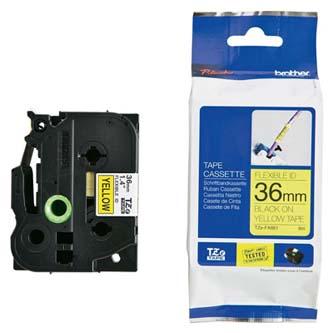 Brother originální páska do tiskárny štítků, Brother, TZE-N201, černý tisk/bílý podklad, nelaminovaná, 8m, 3.5mm
