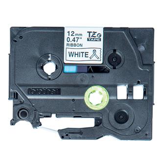 Brother originální páska do tiskárny štítků, Brother, TZE-R231, černý tisk/bílý podklad, 4m, 12mm, pruhovaná
