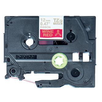 Brother originální páska do tiskárny štítků, Brother, TZE-RW34, zlatý tisk/červený podklad, 4m, 12mm, pruhovaná