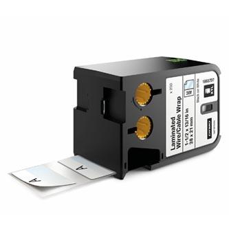 Dymo originální štítky, Dymo, 1868707, černý tisk/bílý podklad, 38mm x 21mm, 250ks, XTL laminované pro vodiče a kabely