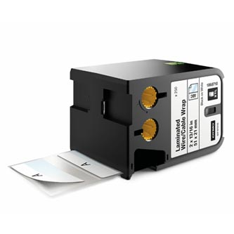 Dymo originální štítky, Dymo, 1868710, černý tisk/bílý podklad, 51mm x 21mm, 250ks, XTL laminované pro vodiče a kabely