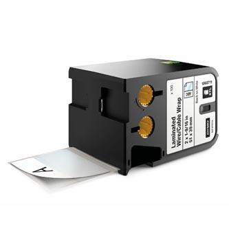 Dymo originální štítky, Dymo, 1868711, černý tisk/bílý podklad, 51mm x 39mm, 100ks, XTL laminované pro vodiče a kabely