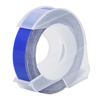 Dymo originální páska do tiskárny štítků, Dymo, S0898140, bílý tisk/modrý podklad, 3m, 9mm, baleno po 10 ks, cena za 1 ks, 3D
