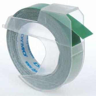Dymo originální páska do tiskárny štítků, Dymo, S0898160, bílý tisk/zelený podklad, 3m, 9mm, baleno po 10 ks, cena za 1 ks, 3D