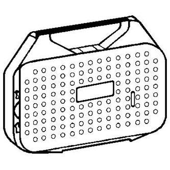 Páska pro psací stroj pro Olympia ES 70, 71, MINI OFFICE 60-62, černá, textilní, PK142, N