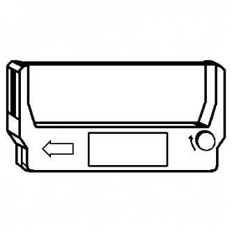 Kompatibilní páska do pokladny, ERC 23, fialová, pro Epson M 250, RP 265, TM 270