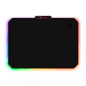 Podložka pod myš, MP-60R, herní, černá, 25,6 x 35,4 cm, A4Tech, podsvícená