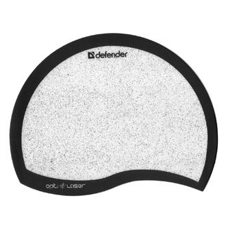 Podložka pod myš, PVC+PU, černo-bílá, 21.5x16.5cm, 1.2mm, Defender, zrcadlové mikročástice