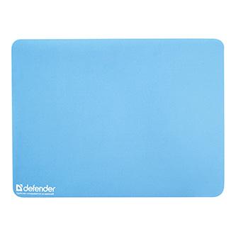 Podložka pod myš, styren butadienový kaučuk, modrá, 30x22.5cm, 1.2mm, Defender, útěrka z mikrovlánka