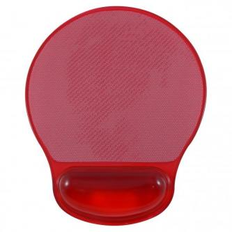 Podložka pod myš, Gelová, červená, Logo, možnost vložit foto