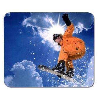 Podložka pod myš, Snowboardista, Logo
