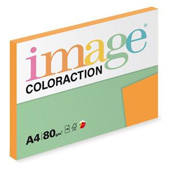 Xerografický papír Coloraction, Venezia, A4, 80 g/m2, tmavě oranžový, 100 listů, vhodný pro inkoustový tisk