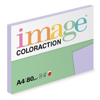 Xerografický papír Coloraction, Tundra, A4, 80 g/m2, světle fialový, 100 listů, vhodný pro inkoustový tisk