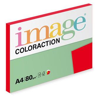 Xerografický papír Coloraction, Chile, A4, 80 g/m2, tmavě červený, 100 listů, vhodný pro inkoustový tisk