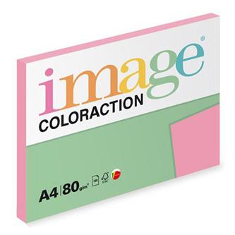 Xerografický papír Coloraction, Coral, A4, 80 g/m2, středně růžový, 100 listů, vhodný pro inkoustový tisk