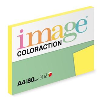 Xerografický papír Coloraction, Canary, A4, 80 g/m2, středně žlutý, 100 listů, vhodný pro inkoustový tisk