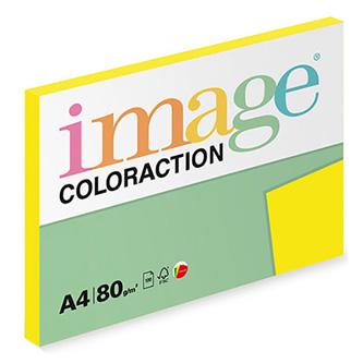 Xerografický papír Coloraction, Sevilla, A4, 80 g/m2, tmavě žlutý, 100 listů, vhodný pro inkoustový tisk