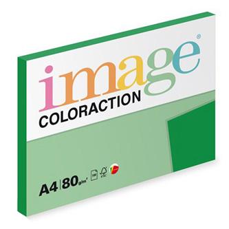 Xerografický papír Coloraction, Dublin, A4, 80 g/m2, tmavě zelený, 100 listů, vhodný pro inkoustový tisk