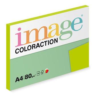 Xerografický papír Coloraction, Java, A4, 80 g/m2, středně zelený, 100 listů, vhodný pro inkoustový tisk