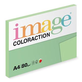 Xerografický papír Coloraction, Forest, A4, 80 g/m2, pastelově zelený, 100 listů, vhodný pro inkoustový tisk
