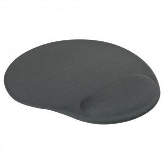 Podložka pod myš, ergonomická, gelová, šedá, Logo