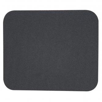 Podložka pod myš, měkká, černá, 24x22x0,3 cm
